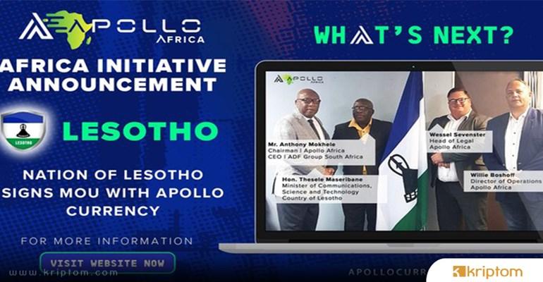 Apollo Currency, Lesoto Ülkesiyle El Sıkıştı