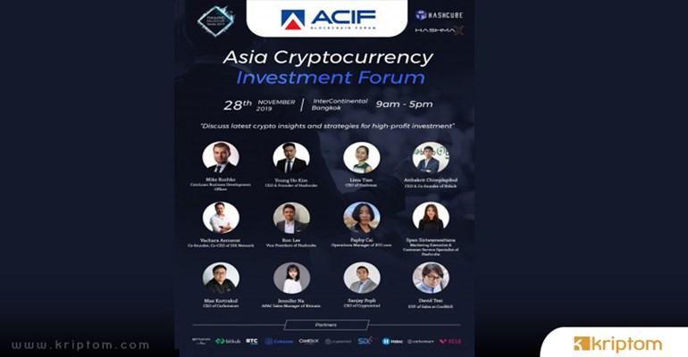 Asia Crypto Investment Forum (ACIF) Etkinliği Yaklaşıyor
