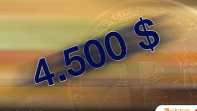 Bitcoin bugün de rekor kırdı; 4500 dolar!