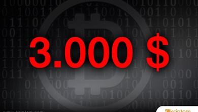Bitcoin fiyatı 3.000 doları aştı ve en yüksek değerine ulaştı!
