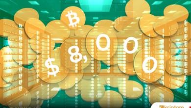 Bitcoin 8.000$ sonrası geriledi