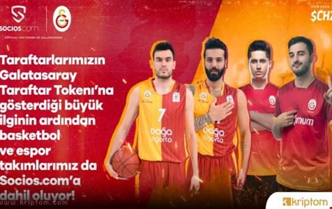 Galatasaray Basketbol ve Espor Takımları da Socios.com İle Anlaştı