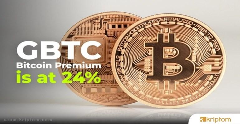GBTC Bitcoin Premium % 24 Yükselişle Kurumsal Talepte Kademeli Artışı Gösteriyor
