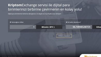 Türkiye'de bir ilk! Kriptom Exchange servisi aktif hale geldi.