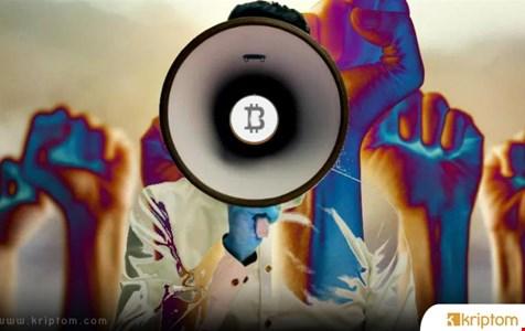 Los Angeles'ta Maskeli Protestocu Bitcoin (BTC) Manifestosunu Çıkardı