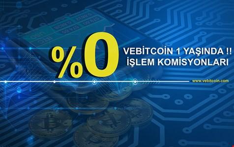 Vebitcoin işlem komisyonlarını