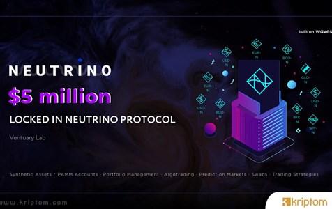 Waves Stablecoin Protokolü Neutrino (USDN) Piyasaya Sürüldüğünden Beri 5 Milyon Dolar Kilitledi